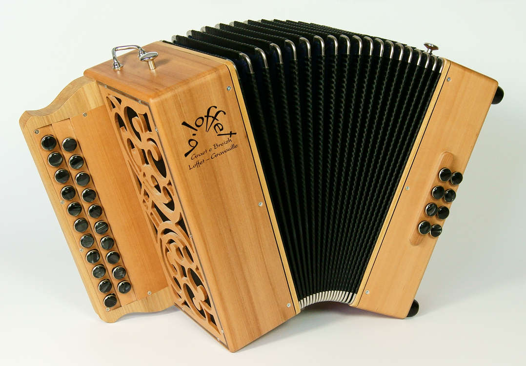 "Bernard Loffet's Diatonic Accordion ""Graet e Breizh"".  